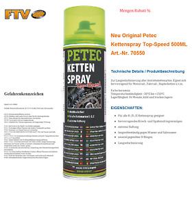 Neu Original Petec 70550 Kettenspray 500ml Top Speed O X Z-Ketten Langzeit