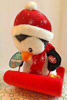 "Dan Dee Christmas Penguin Plush 13"" Animated Musical Jingle Bells"