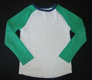 Mini Boden long sleeve solid basic raglan ecru tee shirt top fall school 9 10 Y