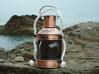 Ships Masthead Copper Lantern - Nautical Lamp - Port star board  Red Green Clear