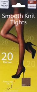 PRETTY LEGS CHIFFON SMOOTH KNIT TIGHTS GUSSET 20 DENIER XXL FREE DELIVERY