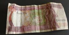 Bank centrali ta malta lm 2 liri A/19 932374 1967