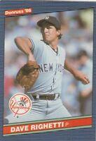 FREE SHIPPING-MINT-1986 Donruss New York Yankees #214 Dave Righetti-2