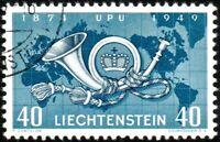 LIECHTENSTEIN - 1949 - Mi.277 40Rp ultramarine & cobalt blue - VFU - (ref.892t)