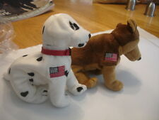 Ty Retired Beanie Babies X 2 Commemmorative Beanies Rescue & Courage