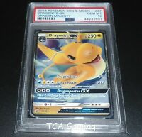 PSA 10 GEM MINT Dragonite GX 37/70 SM Dragon Majesty HOLO RARE Pokemon Card