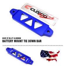 14cm CNC Billet Aluminum Car Password Battery Tie Down Bar Stand Universal Blue