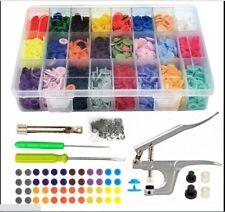 375 Set DIY Craft Kam Snaps T5 Snap Starter Plastic Poppers Fasteners Plier AU
