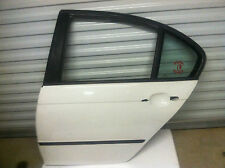 2001 BMW E46 325I SEDAN (DRIVER SIDE) LEFT REAR DOOR SHELL  PANEL WHITE.