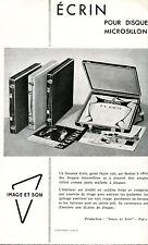 Publicité électrophone tourne-disques Image & Son Ecrin pour disques microsillon