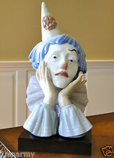 """Vintage Lladro """"Jester Clown"""" with Base #5129, Magnificent Large Sculpture!"""