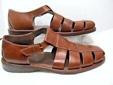 Tommy Bahama Mens Fishermans Sandals Size 13 D Brown Leather Style M8010  #43 JB