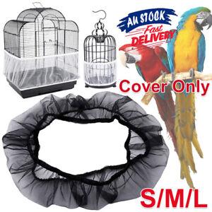 SML Cover Shell Skirt Nylon Seed Catcher Guard Pet Bird Cage Mesh Net Decoration
