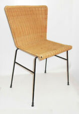 2 x DDR Stühle Stuhl Korbgeflecht Rattan Korbstuhl Mid Century Vintage Design !