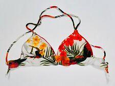 Guess Triangle Bikini Top Women's Small Floral Tropical