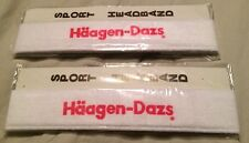 2 Vintage 80's Haagen - Dazs Sport Headband Collectible Advertising Ice Cream