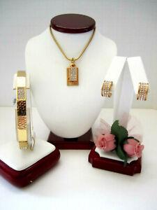 "Brighton ""MERIDIAN ZENITH"" Gold Necklace-Earring-Bracelet Set (MR$180) NWT/Pouch"