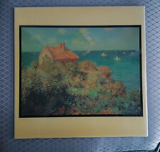 Decorative Ceramic Tile, Monet's Fisherman's Cottage on the Cliff, A.R.T. Co.