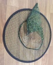 Girls Child Kid Witch Hat Green Polka Dot Black Accessories Halloween Costume