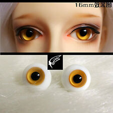 16mm white  Black Yellow Color For BJD AOD DOD Doll Dollfie Glass Eyes Outfit