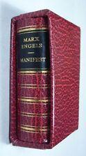 DDR mini libro Marx/Engels: manifiesto, 1975 piel sintética con volúmenes, ill. Masereel
