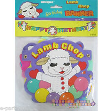 LAMB CHOP HAPPY BIRTHDAY BANNER ~ Vintage Party Supplies Paper Room Decorations