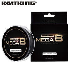 KastKing Mega 8 Braided Fishing Line 8 Strands Braided Line - Black - 80LB