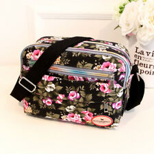 Women Canvas Floral Handbag Satchel Cross Body Shoulder Bag Messenger Tote UK