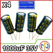 4X 1000uF 35V CONDENSATORE ELETTROLITICO 105° LOW ESR switching
