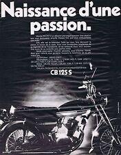 PUBLICITE ADVERTISING 114 1971 HONDA la moto CB 125 S