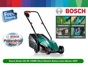 Bosch Rotak 320 ER Lawnmower 1200W 32cm Metal Blade Electric Rotary Mower 240V
