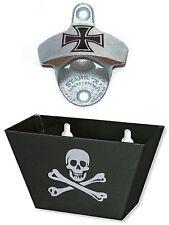 Eisernes Kreuz Iron Cross Totenkopf USA STARR X Wandflaschenöffner Korkenbox Set