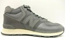6bc26df08b8ff New Balance 574 Gray Leather Fleece Lined Hiking Trail Shoes Men's 9.5 D