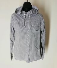 """Mens Voi Shirt Blue Gingham Check Hooded Chest 38"""" Size Small New RRP £49.99"""
