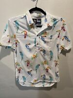 Chubbies The Nutter Parrot Polo Size Mens M Medium White Multicolored Casual