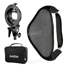 Godox 80X80cm Foldable Softbox + S type Bracket Mount Holder for Flash Speedlite