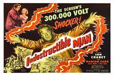 "VINTAGE - INDESTRUCTIBLE MAN MOVIE POSTER 12"" x 18"""