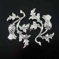20PCS Vintage Silver Alloy Flowers Shaped Charms Crafts Pendants Findings 32136
