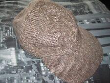 Hanna Hats Of Donegal Irish Tweed Baseball Cap. Made In Ireland. size L