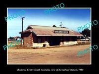 OLD LARGE HISTORIC PHOTO BOOLEROO CENTRE SOUTH AUSTRALIA RAILWAY STATION c1980
