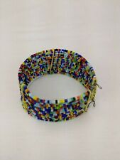Color cuff Bracelet tribal ethnic Jewelry New African Maasai Masai Beaded Multi