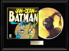 Jan & Dean Meet Batman Album Framed Lp Gold Metalized Record Beach Boy