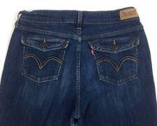 Levis 515 Womens Jeans 8M Boot Cut Dark Wash Studded Flap Pocketes