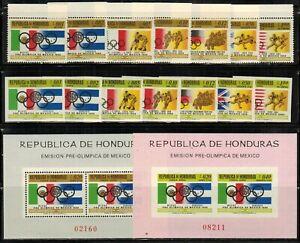 Honduras #C429-435a Perf & Imperf Set 1968 MNH