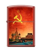 *NEW* Lighter Zippo 233 Soviet Design, Red Moscow, Vintage RARE