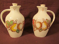 ANTIQUE HARMONY HOUSE VINEGAR AND OIL CRUETS JARS BOTTLES SET