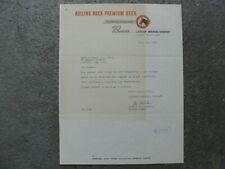 Rolling Rock Beer Letterhead 1953 Latrobe Brewing Company Latrobe, Pa
