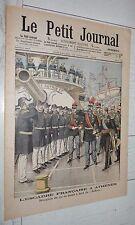 PETIT JOURNAL 1904 MARINE SUFFREN A ATHENES ROI DE GRECE / MASSENA A WAGRAM 1809