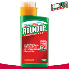 Roundup Unkrautfrei 250ml AC Konzentrat Glyphosat Nachtschatten Distel Hirse