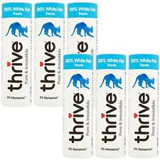6 x thrive Cat 100% White Fish Treats Snack Tube 15g - Real Natural Freeze Dried